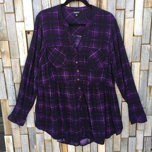 Woman's plus size 2X torrid top shirt blouse
